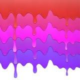 Grupo de gotejamento multicolorido da pintura no fundo Imagens de Stock