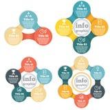 Grupo de gráfico da informação do círculo de negócio, diagrama Foto de Stock