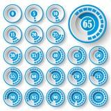 Grupo de gráfico de setores circulares para o design web Barra do progresso para o infographics do negócio elementos de 3d Infogr ilustração do vetor