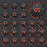 Grupo de gráfico de setores circulares para o design web Barra do progresso para o infographics do negócio elementos de 3d Infogr ilustração stock