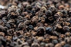 Grupo de grão de pimenta preto imagens de stock royalty free