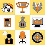 Grupo de grupo universal dos ícones do negócio para a Web e o móbil Fotos de Stock Royalty Free