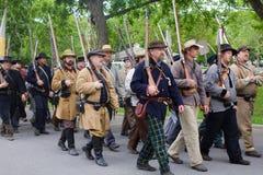 Grupo de guerra civil Reenactors Foto de archivo