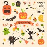 Grupo de Hallowen Ilustração Stock
