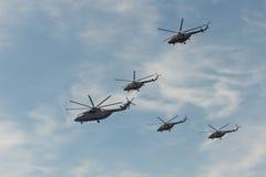 Grupo de helicópteros Imagem de Stock