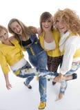 Grupo de hembras adultas juguetonas foto de archivo libre de regalías