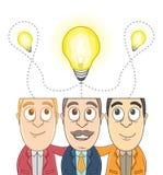 Grupo de hombre de negocios - la misma idea Fotografía de archivo