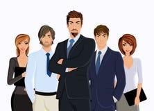 Grupo de hombres de negocios ilustración del vector