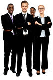 Grupo de hombres de negocios, brazos cruzados foto de archivo libre de regalías
