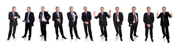 Grupo de hombres de negocios - carrocería completa Fotos de archivo