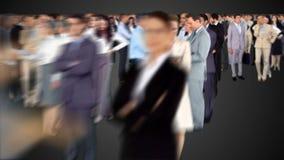Grupo de hombres de negocios del encuentro almacen de video