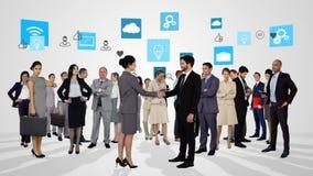 Grupo de hombres de negocios del encuentro ilustración del vector