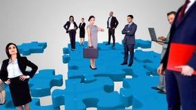 Grupo de hombres de negocios del encuentro libre illustration