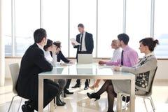 Grupo de hombres de negocios en la reunión Fotos de archivo libres de regalías