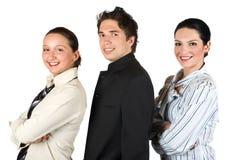 Grupo de hombres de negocios en perfil Fotografía de archivo libre de regalías