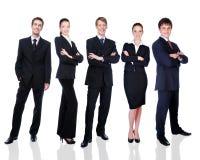 Grupo de hombres de negocios sonrientes acertados Foto de archivo libre de regalías