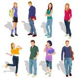 Gente joven Ilustración del Vector