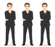 Grupo de homem de negócio pensativo Imagem de Stock