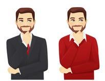Grupo de homem de negócio pensativo Imagem de Stock Royalty Free