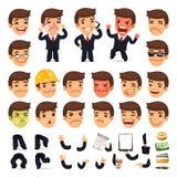 Grupo de homem de negócios Character dos desenhos animados para o seu Imagem de Stock Royalty Free