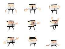 Grupo de homem impressionante do escritório e de negócio, desenhos animados 3d bonitos Imagem de Stock