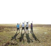 Grupo de homem que aponta acima Imagem de Stock Royalty Free