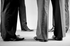 Grupo de homens corporativos nos ternos Fotografia de Stock