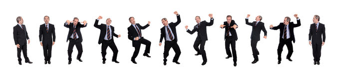 Grupo de homens de negócio felizes Foto de Stock