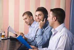Grupo de homens de negócio no escritório Imagens de Stock Royalty Free