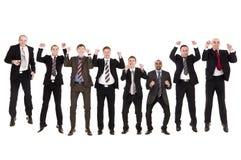 Grupo de homens de negócios de salto Fotos de Stock
