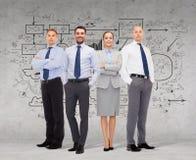Grupo de homens de negócios de sorriso sobre o fundo branco fotografia de stock