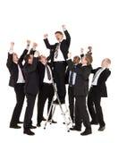 Grupo de homens de negócios felizes imagens de stock