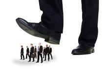Grupo de homens de negócios sob uma sola foto de stock