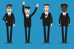 grupo de homens de negócios Vetor Projeto liso ilustração royalty free