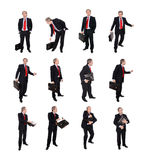Grupo de homens de negócios com uma pasta Fotos de Stock