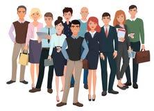 Grupo de homens e de mulheres Equipe criativa do negócio com líder ilustração stock