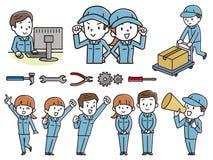 Grupo de homens e de mulheres da roupa de trabalho ilustração royalty free