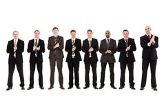 Grupo de homens que aplaudem as mãos Imagem de Stock Royalty Free