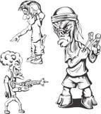 Grupo de hooligan adolescentes ilustração do vetor