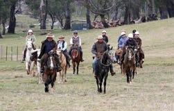 Grupo de horseriders Imagen de archivo