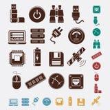 Grupo de hospedar ícones ilustração stock