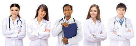 Grupo de hospital de sorriso imagem de stock royalty free