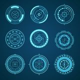 Grupo de HUD Interface Futuristic Graphic Elements Vetor ilustração royalty free