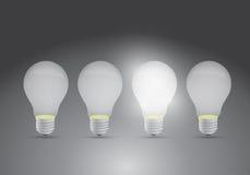 Grupo de ideias um projeto brilhante da ilustração das ideias Fotos de Stock Royalty Free
