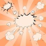 Grupo de ilustração cômica dos discursos do pop art Grupo decorativo de ícones com o explosivo da bomba no estilo do pop art ilustração royalty free