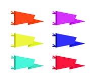 Grupo de ilustração das bandeiras das flâmulas da aventura Coleção do vetor Fotos de Stock