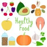 Grupo de ilustração do alimento Fotos de Stock Royalty Free