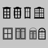 Grupo de ilustração do vetor das janelas Fotografia de Stock Royalty Free