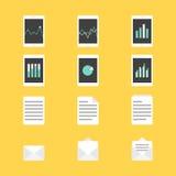 Grupo de ilustração do vetor dos ícones da produtividade Fotografia de Stock