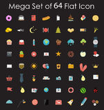 Grupo de ilustração lisa do vetor dos ícones do projeto Imagens de Stock